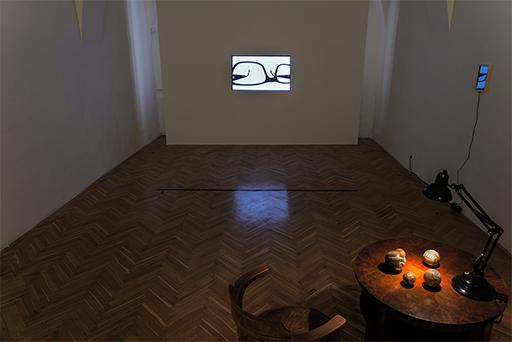 Jan Chlup, exhibition preview, Sentence Is The Road We Are Walking Off, Installation view, TIC Brno